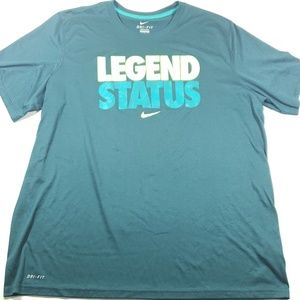 Nike dr-fit mens teal blue legend status t shirt